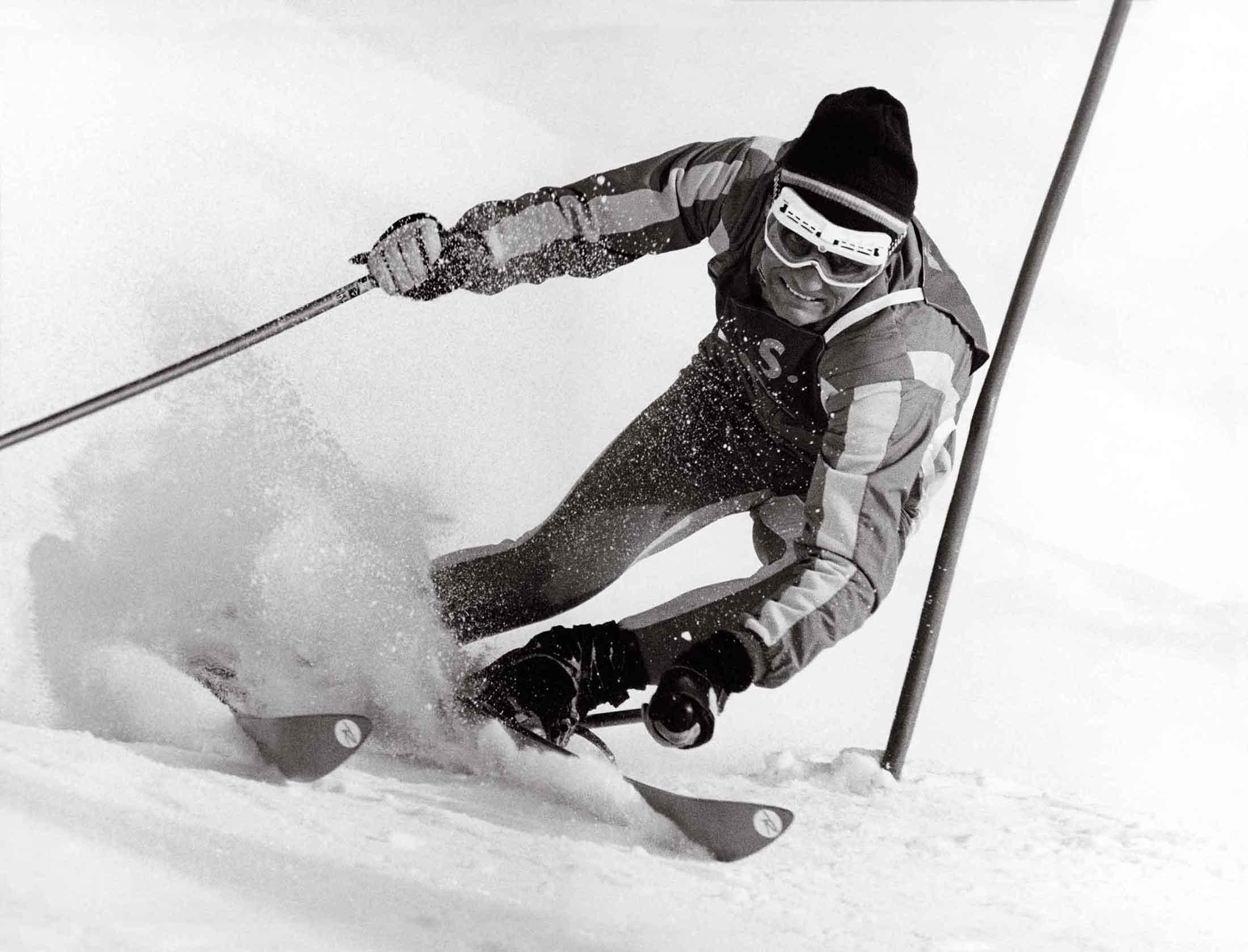 photographie killy ski noir et blanc